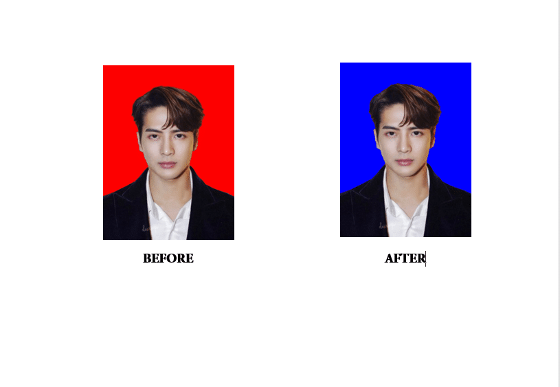 Before After Ganti Background Foto Word