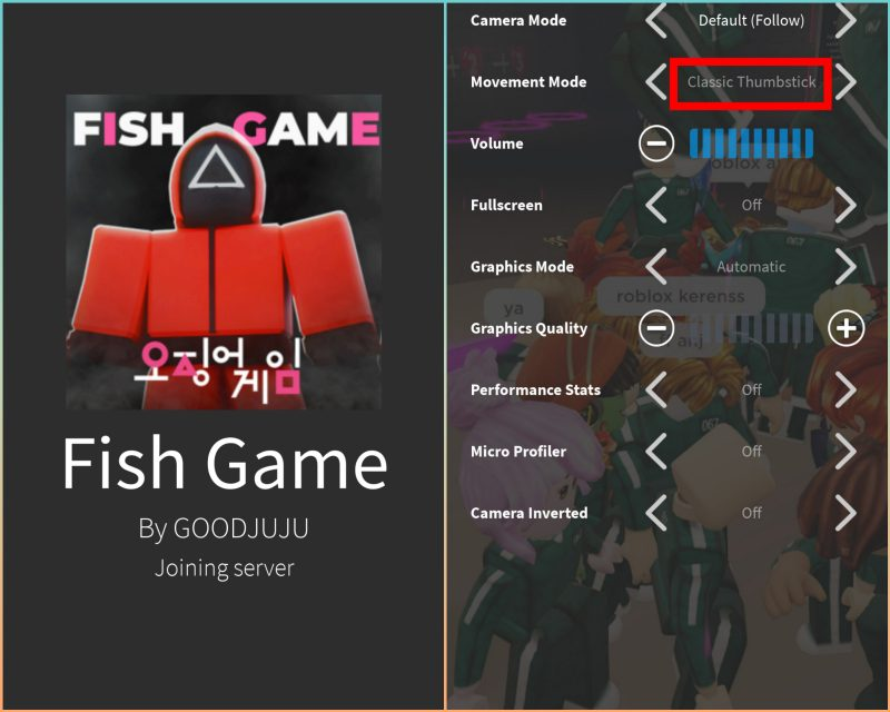 Setting Squid Game Roblox